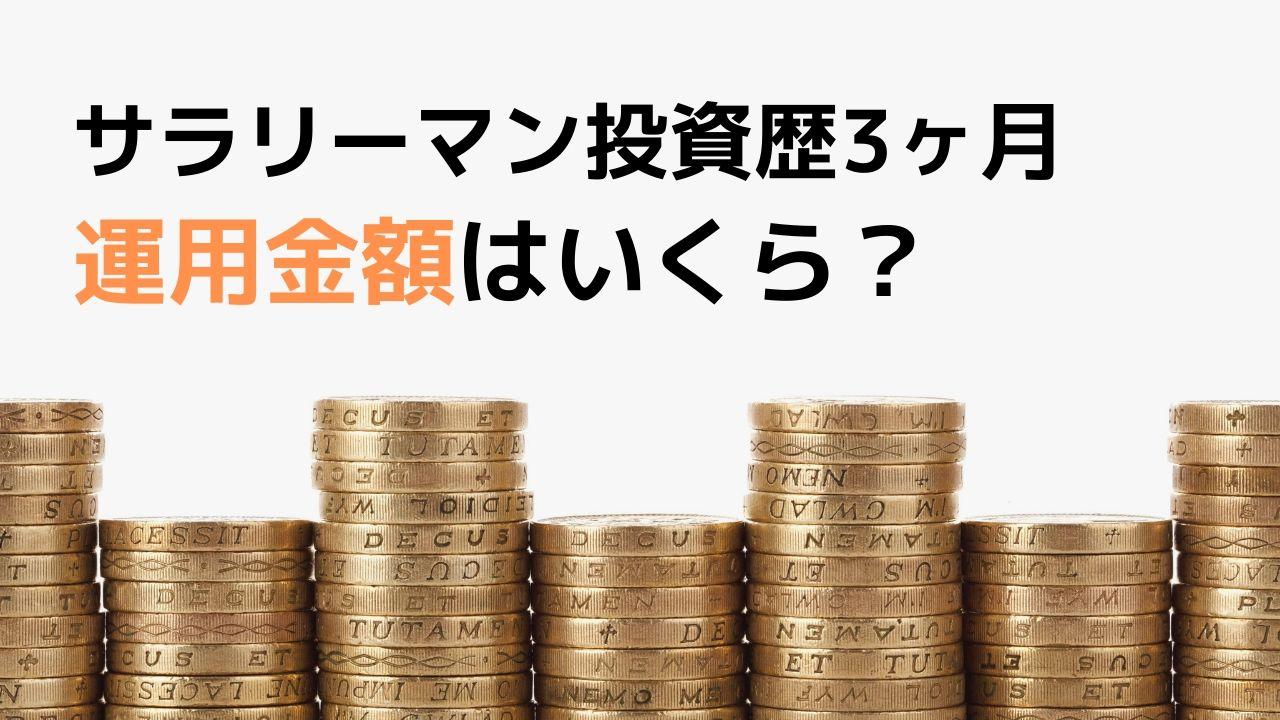 サラリーマン投資歴3ヶ月の資産運用金額